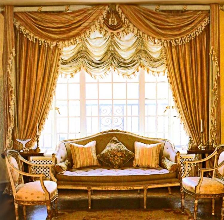 Дизайн интерьера шторы фото
